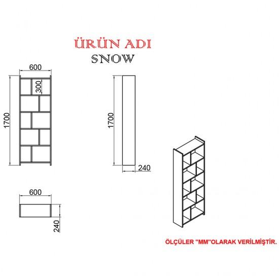 Kalender Dekor Decker Snow 90 cm Çalışma Masası Takımı DCS03