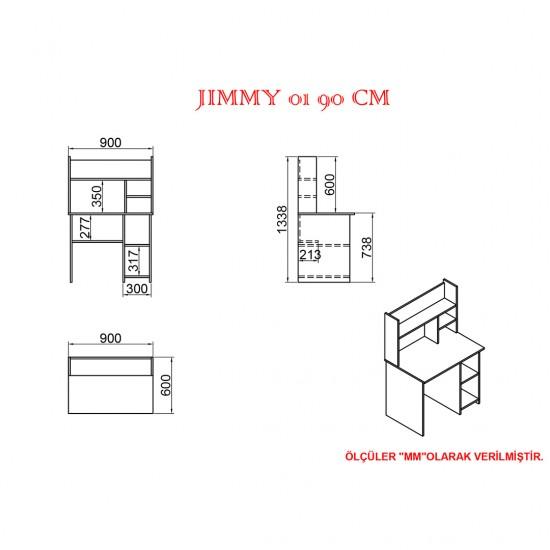 Kalender Dekor Jimmy Snow 90 cm Çalışma Masası Takımı JMS02