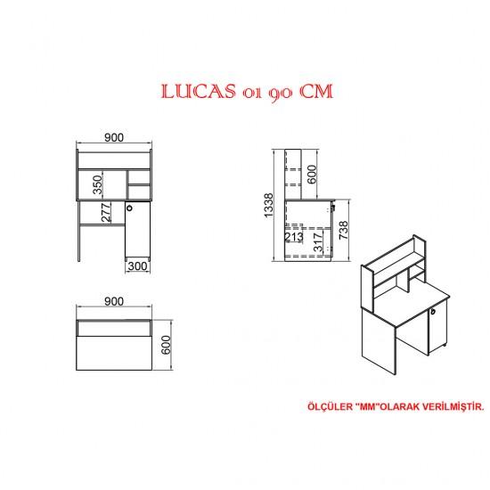 Kalender Dekor Lucas 01 90 cm Çalışma Masası LC04