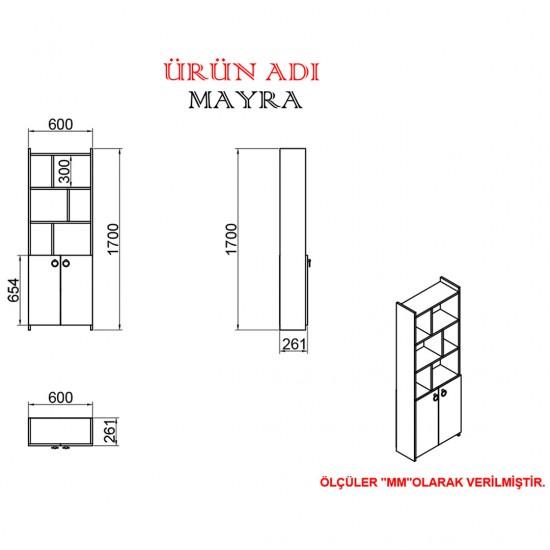 Kalender Dekor Mateo Mayra 145 cm Çalışma Masası Takımı CEVİZ