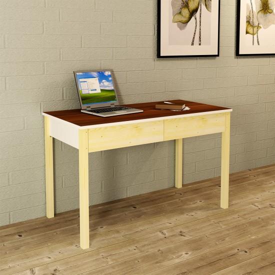 Kalender Dekor Arya Çalışma Masası ARY03 Ceviz-Beyaz