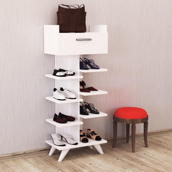 Kalender Dekor Doris 6 Raflı Ayakkabılık Beyaz