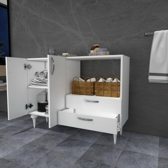 Kalender Dekor İgnis Çok Amaçlı Banyo Dolabı Beyaz