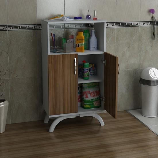 Kalender Dekor Mathilda Çok Amaçlı Banyo Dolabı Ceviz-Beyaz