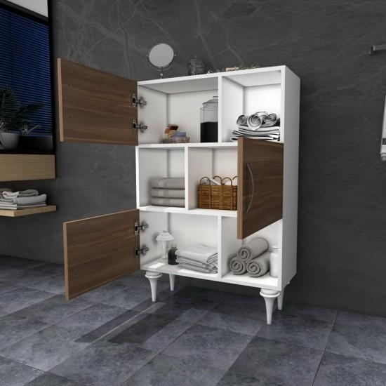 Kalender Dekor Mint Çok Amaçlı Banyo Dolabı Ceviz-Beyaz