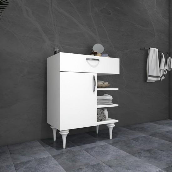 Kalender Dekor Noble Çok Amaçlı Banyo Dolabı Beyaz