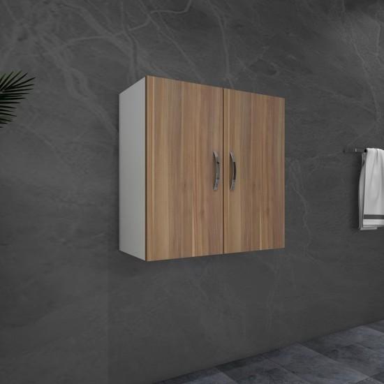Kalender Dekor Renat Çok Amaçlı Banyo Dolabı Ceviz-Beyaz