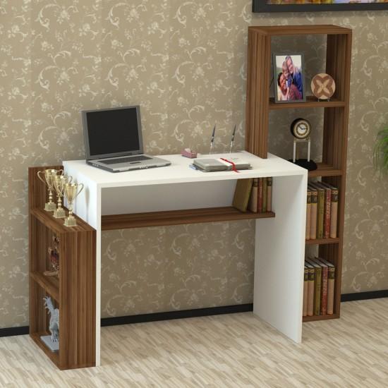 Kalender Dekor Alfonzo Çalışma Masası Ceviz-Beyaz