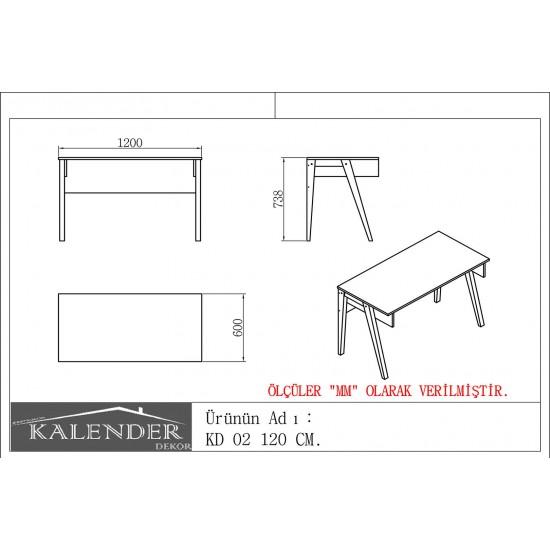 Kalender Dekor KD-02 Çalışma Masası Beyaz