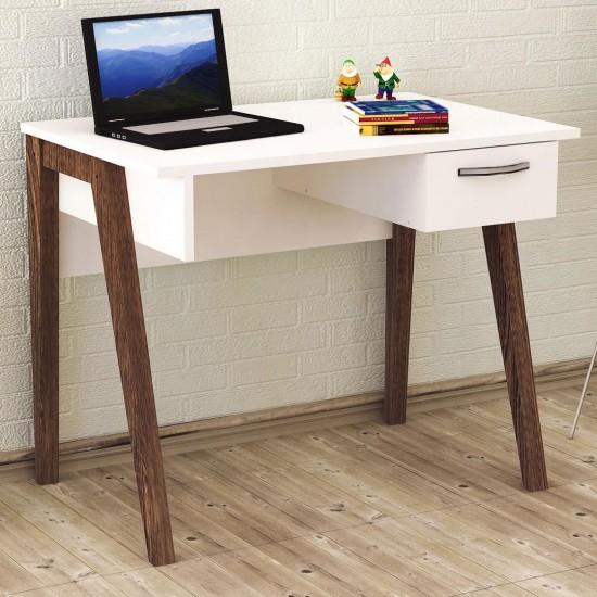 Kalender Dekor KD-03 Çalışma Masası Ceviz-Beyaz