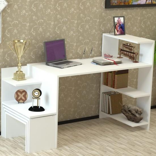 Kalender Dekor New Dekoty Çalışma Masası Beyaz