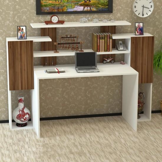 Kalender Dekor Orabella Çalışma Masası Ceviz-Beyaz