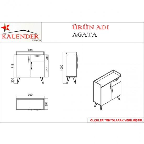 Kalender Dekor Agata AG01 Mutfak Dolabı