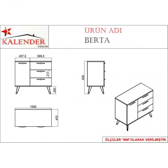 Kalender Dekor Berta BR04 mutfak Dolabı