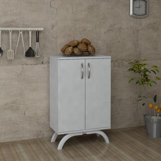 Kalender Dekor Bonita Çok Amaçlı Mutfak Dolabı Beyaz