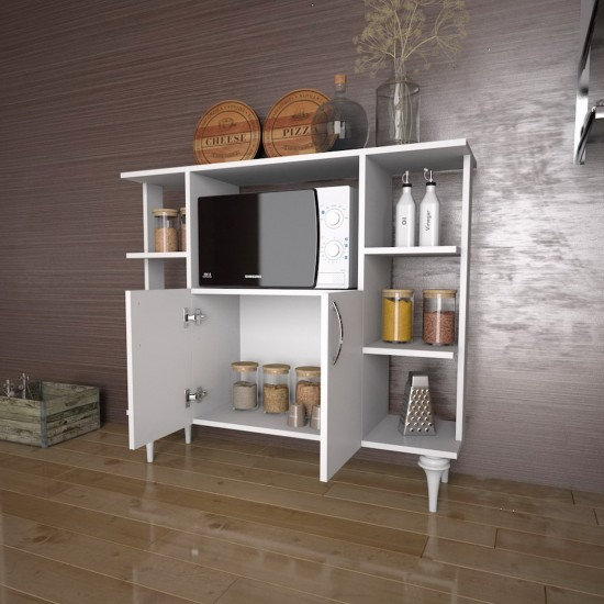 Kalender Dekor Libor Çok Amaçlı Mutfak Dolabı Beyaz