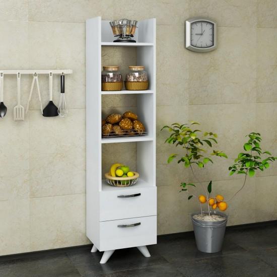 Kalender Dekor Menkar Çok Amaçlı Mutfak Dolabı Beyaz
