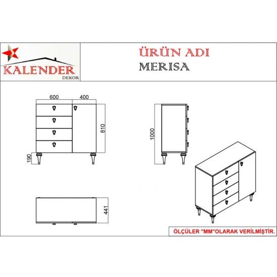 Kalender Dekor Merisa Mutfak Dolabı MRS03 Ceviz-Beyaz