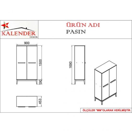 Kalender Dekor Pasin PS01 Beyaz Mutfak Dolabı