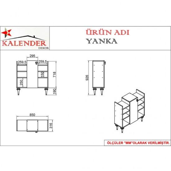 Kalender Dekor Yanka Mutfak Dolabı YN03