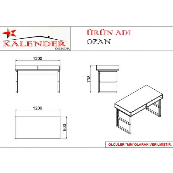 Kalender Dekor Ozan Çalışma Masası OZN05 Ceviz