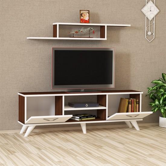 Kalender Dekor Pruitt Tv Ünitesi PRT03 Ceviz-Beyaz