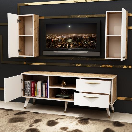 Kalender Dekor Alope Tv Ünitesi Atlantikçam-Beyaz