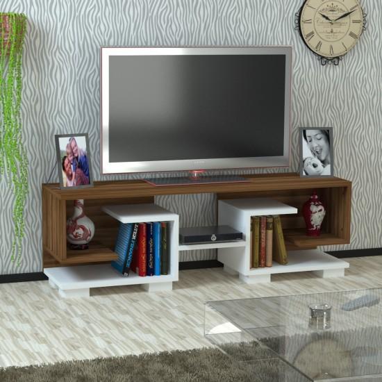 Kalender Dekor Cadedra TV Ünitesi Ceviz-Beyaz