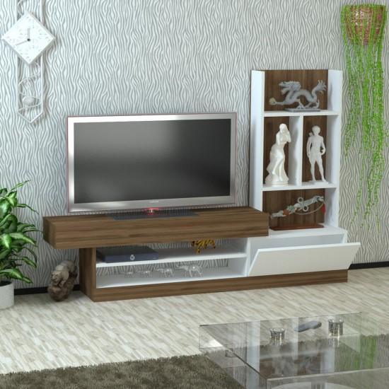 Kalender Dekor Legolas Tv Ünitesi Ceviz-Beyaz